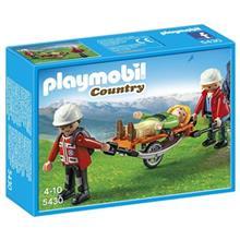 ساختني پلي موبيل مدل Mountain Rescuers with Stretcher 5430