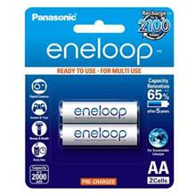 Panasonic Eneloop BK-3MCCE/2BT Rechargeable AA Battery Pack Of 2