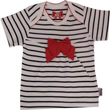 تي شرت آستين کوتاه نوزادي نيلي مدل Red Bow