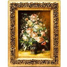 تابلو فرش گالری سی پرشیا طرح گل با گلدان کد 901049