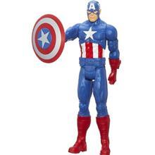 عروسک هاسبرو مدل AVN 12IN Titan Hero Captain America سايز متوسط