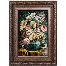 تابلو فرش گالری سی پرشیا طرح گل با گلدان کد 911029