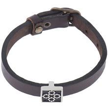 دستبند چرمی الف دال طرح 3