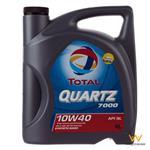 روغن موتور خودرو به توتال مدل Quartz 7000 چهار لیتری 10W-40
