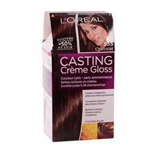 کیت رنگ مو کستینگ لورال پاریس مدل Casting شکلاتی 535