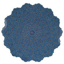 بشقاب مسي ميناکاري شده اثر اسماعيلي طرح اسليمي قطر 30 سانتي متر