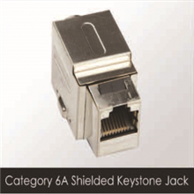 Unicom RJ-45 CAT-6A Shielded Keystone Jack