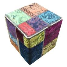 Batik H1006 Collage Carpet Pouff