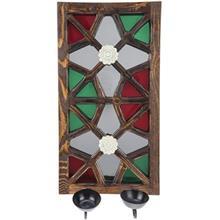 جاشمعی دیواری گالری اسعدی مدل آینه دار طرح دو گل