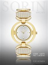 ساعت مچی زنانه سورین L0271 (طلایی-صفحه:سیلور)