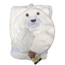 پتوی کلاهدار کارترز با پاپوش سفید طرح خرس Carters Bear Blankets