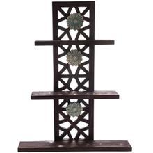 طبقه چوبی گالری اسعدی مدل گره چینی طرح سه گل