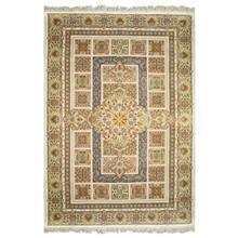 فرش ماشینی پرنا طرح مسرور زمینه کرم