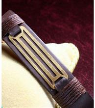 دستبند چرم مردانه کد114 گالری سان سیلور