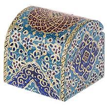 جعبه استخواني اثر بهشتي طرح تذهيب فرشي سايز کوچک