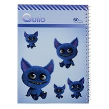 Quilo Cute Blue Monster Design Soft Cover 60 Sheets Notebook