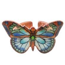 انگشتر مسی مینا گالری آراسته کد 181040 طرح پروانه سبز