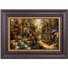تابلو فرش گالری سی پرشیا طرح کلبه و رودخانه کد 911020