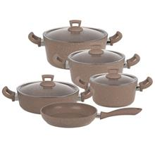 Hascevher Geranit Cookware Set 9 Pieces