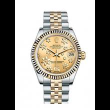 ساعت مچی زنانه رولکس Rolex Datejust Yellow Gold Ladies Watch 178273
