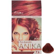 کيت رنگ مو آنيکا سري Pro Keratin مدل Mahogani شماره 7.6