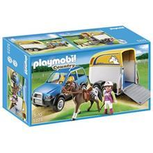 ساختني پلي موبيل مدل Suv With Horse Trailer 5223