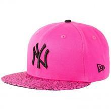کلاه کپ زنانه نیو ارا مدل Crackled Bright NY Yankee