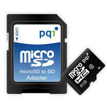 PQI Micro SDHC Class 10 UHS-I 8GB With adapter