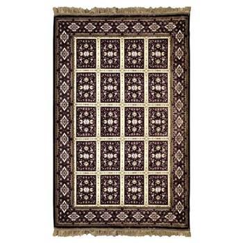فرش ماشینی پرنا طرح بیژن زمینه بنفش