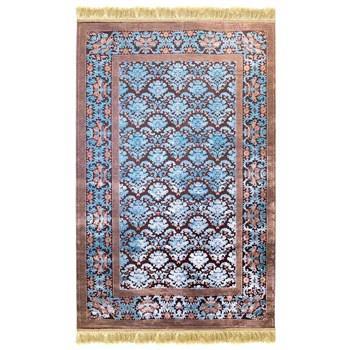 فرش ماشینی پرنا طرح برزین زمینه آبی
