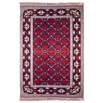 فرش ماشینی پرنا طرح برزین زمینه قرمز