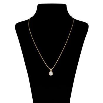گردنبند اليور وبر مدل Tear Gold Crystal 11052G