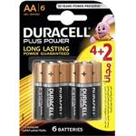 Duracell Plus Power Duralock AA Battery Pack Of 4 Plus 2