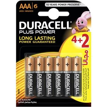 Duracell Plus Power Duralock AAA Battery Pack Of 4 Plus 2