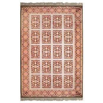 فرش ماشینی پرنا طرح بیژن زمینه قرمز