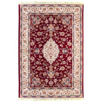 فرش ماشینی پرنا طرح مروارید زمینه قرمز