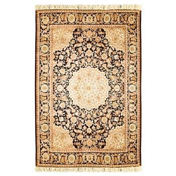 فرش ماشینی پرنا طرح اصفهان قهوه ای