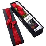 Mita Red Rose And Chocolate Flower Gift Box