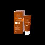 کرم ضد آفتاب سن سی تلیال رنگی مناسب پوست های نرمال تا خشک SPF 50⁺  40 میلی لیتر ای سی ام