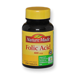 قرص اسید فولیک 400 میکروگرم نیچرمید 100 عددی