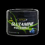 پودر ال گلوتامین + ویتامین C اپکس با طعم بلوبری 400گرم