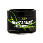 پودر گلوتامین + ویتامین C اپکس با طعم تمشک 400گرم