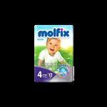 پوشک چسبی مولفیکس شماره 4 (7 تا 18کیلوگرم)