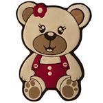 فرش تزیینی زرباف مدل Bear - سایز 100 × 75 سانتی متر