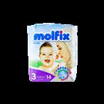 پوشک چسبی مولفیکس شماره 3 (4 تا 9 کیلوگرم)