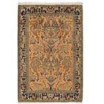 فرش دستبافت قدیمی یک و نیم متری راگچری کد BA9464