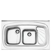 سینک  روکار استیل البرز پروانه 611 دولگن چپ-(سایز120*60 )