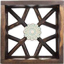 قفسه چوبی گالری اسعدی طرح تک گل