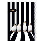 دفتر نقاشی 50 برگ کلیپس طرح پنگوئن جلد شومیز