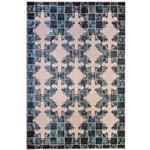 فرش ماشيني ديبا طرح رسام زمينه آبي
